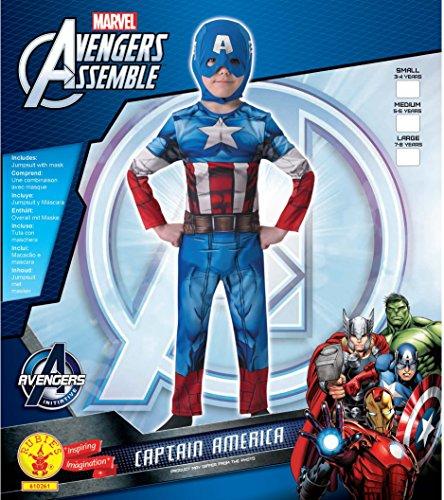 Imagen de the avengers  disfraz marvel the avengers capitán américa para niños, talla s i 610261s  alternativa