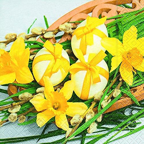 20 Servietten Osterarangement Ostern Ostereier Narzissen-Blüten Frühling