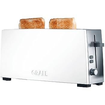 Graef Matt Brushed Long Slot Stainless Steel Toaster