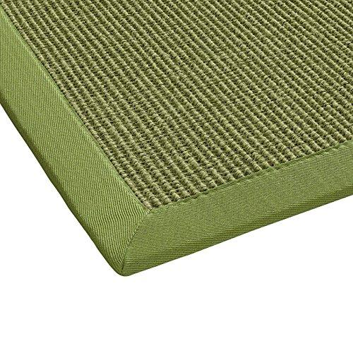 BODENMEISTER Sisal-Teppich modern hochwertige Bordüre Flachgewebe, verschiedene Farben und Größen, Variante: grün, 160x230