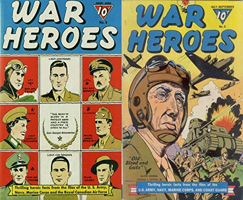 war-heroes-issues-3-and-5-us-army-navy-marine-corps-coast-guard-old-blood-and-guts-major-roberts-lie