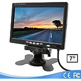 Lychee 7Pollici TFT LCD Display Monitor per Telecamera Retromarcia con Supporto,HD Macchina Fotografica di Parcheggio, Rotazi