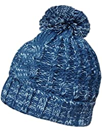 Mens or Womens Oversize Knitted PomPom Beanie Hat