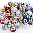 50 Glasperlen Howlith Spacer Perlen 14X10mm Charms Neu
