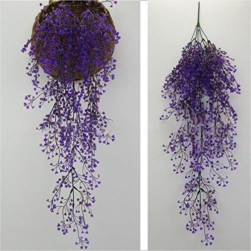 EgBert Simulation Rattan Pflanze Blume Künstliche Gefälschte Blume Wohnzimmer Wand Dekorationen Wohnkultur - Lila