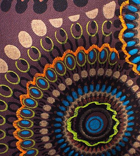 a PSY Kunst con colorato Marrone motivo Magie tracolla und Borsa rqXxtw8X