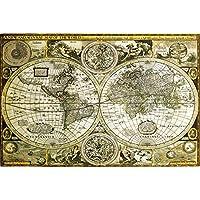 1art1® 61804 - Póster de mapamundi antiguo (91 x 61 cm)