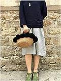 BAGEHUA Manuelle Haar Tasche Klein gewebten Beutel Tasche Stroh Pauschalreise Kaffee