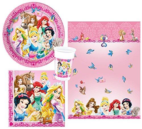 """Procos 10105462 - Set di accessori per feste, motivo: """"Gli animali delle principesse Disney"""""""