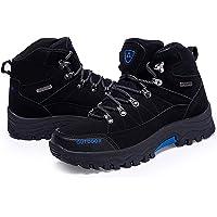 Scarpe da trekking antiscivolo da uomo, scarpe da trekking con lacci per tutte le stagioni, per passeggiate, viaggi…