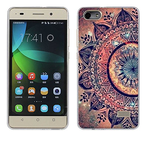 Fubaoda Huawei Honor 4C Hülle, [Mandala Blume] Kratzfeste Plating TPU Case für Huawei Honor 4C (G Play Mini) Case Schutzhülle Silikon Crystal Case Durchsichtig für Huawei Honor 4C (G Play Mini)