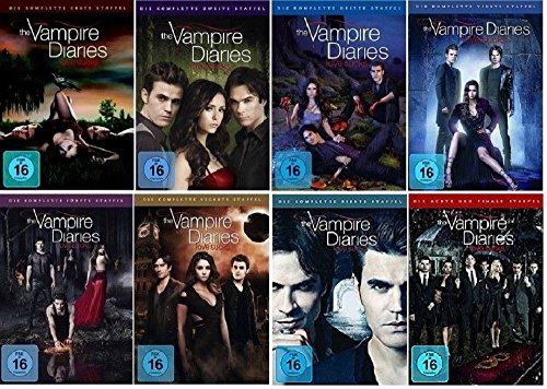 The Vampire Diaries Staffel 1-8 (1+2+3+4+5+6+7+8) [DVD Set] Die komplette Serie - Vampire Vier Diaries-staffel