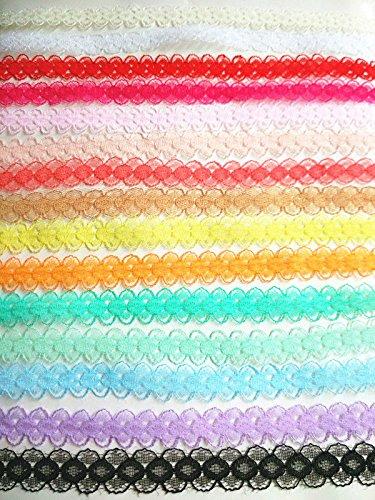 Style vintage ruban de dentelle tailler Mariage Net Bordure festonnée Edge14 mm rustique avec bords en jute en toile de jute Toile de jute au mètre par Accessoires grenier® 14mm noir
