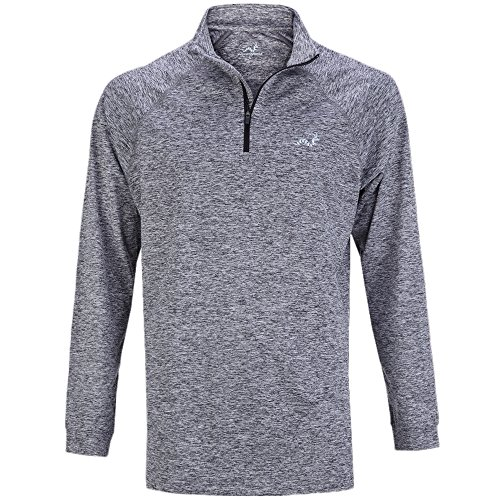 Woodworm Golf ¼ Zip Heather Pullover / Sweater / Jumper Grey L