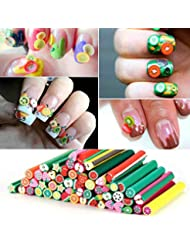 Nail art fimo amazon nail art 50 full fimo cane rods prinsesfo Choice Image