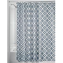 InterDesign Trellis Cortinas de baño de tela | Cortina de ducha para bañera y ducha con