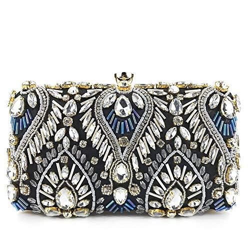 Xiaozou pochette da donna portafoglio crystal envelope beaded ball abito da sera da sposa paillettes colorate perle di perline borse