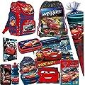 DISNEY CARS AUTO 15 Teile SET SCHULRANZEN RANZEN SCHULTÜTE 85 FEDERMAPPE TASCHE Tornister mit Sticker von Kids4shop