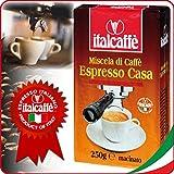 Italcaffè Espresso Casa, Café moulu, convient pour machines à expresso, Lot de 12, 12 x 250g