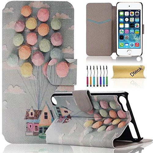iPod Touch 5/6Fall, dteck (TM) Süßes PU-Leder Ständer Wallet Magnet Case [Karten/Geld Halter] Flip Zusammenklappbar für Apple iPod Touch 5. 6. Gen 10,2cm, 2 Flying House