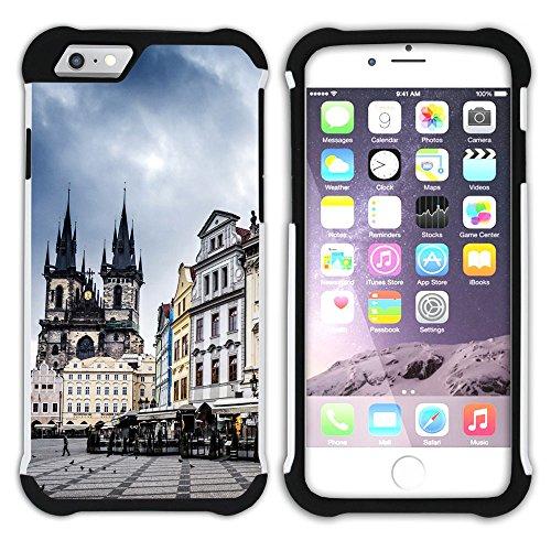 Graphic4You Prag Tschechische Republik Postkarte Aussicht Hart + Weiche Kratzfeste Hülle Case Schale Tasche Schutzhülle für Apple iPhone 6 Plus / 6S Plus Design #6