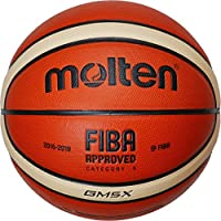 MOLTEN BGMX - Balón de Baloncesto Junior, Naranja y Marrón Claro, Talla 5