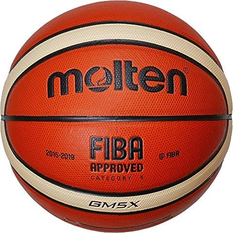 Molten Bgm5 - Balón de baloncesto, color naranja, talla 5