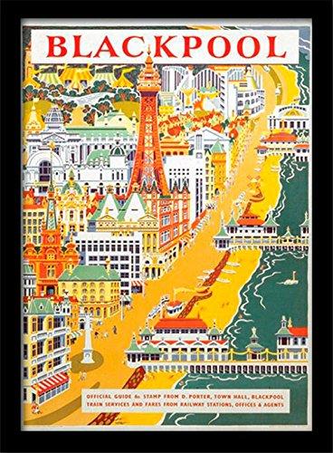 National Railway Museum 'Blackpool Vintage Werbung' Gerahmter Druck, mehrfarbig, 30x 40cm