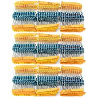 wimas 1ohm-1m Ohm 1W 100valor Resistor de película metálica resistencia surtido Kit 1000pcs