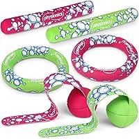 Physionics - Jeu de plongée - set de 6 jouets pour la piscine - 2 bâtons, 2 anneaux et 2 serpentins