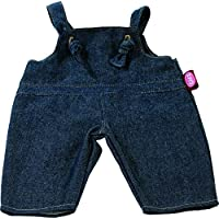 Gotz 3402482 Denim Dungarees - Size S - Dolls Clothing - Suitable For Baby Dolls Size S (30 - 33 cm)