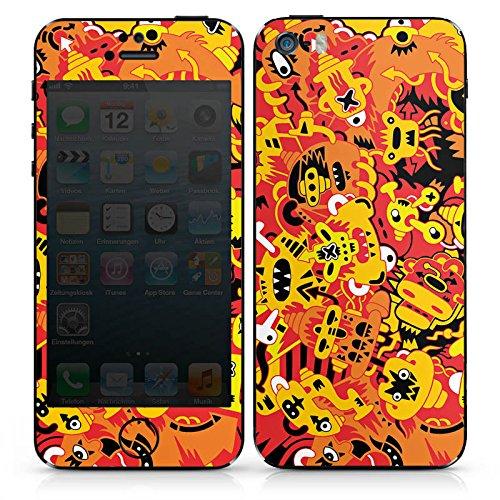 Apple iPhone SE Case Skin Sticker aus Vinyl-Folie Aufkleber Fantasie Comic Comicstyle DesignSkins® glänzend