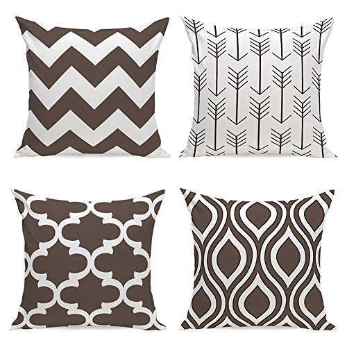 Aipark 4pcs 45,7 x 45,7 cm geometrico federa decorativo cuscini per divani letto sedie da letto
