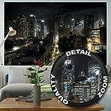 Papel pintado fotográfico de New York – imagen mural de Manhattan de noche – HDR HD Nueva York de noche – decoración mural by GREAT ART (210 x 140 cm)