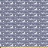 ABAKUHAUS Grau Microfaser Stoff als Meterware, Klavier Jazz