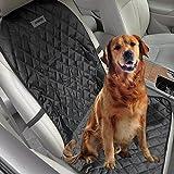 Aomaso Cubierta Antideslizante para Mascotas en Butaca de Automóvil, Ajusta a Automóviles, Camionetas y SUV, Incluye Sistema de Anclaje y Apertura para Cinturón de Seguridad - Negro 1