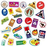 Supertogether Set of 28 Full-Colour World Travel Locations Suitcase Stickers - Cool Vinyl Decals Also Suitable for Laptops Travel Luggage Bags Car Panels VW Camper Vans and Even Bedroom Walls