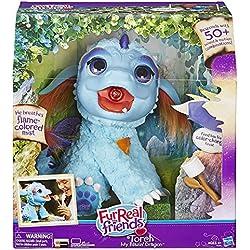 Hasbro FurReal Friends: Torch Dragón de juguete Felpa Azul, Púrpura - juguetes de peluche (Dragón de juguete, Azul, Púrpura, FurReal Friends, Felpa, 4 año(s), Torch)