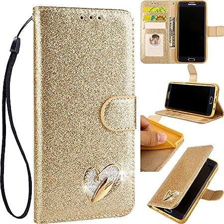 Ansehnliche Modisch BookStyle für Huawei P30,Funkeln Bling Glitzer Diamant Slim Hülle Leder Bumper Flip Folio Wallet…