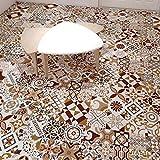 JY ART VZYX Fliesenaufkleber Dekorative Wandgestaltung mit Fliesenaufklebern für Küche und Bad, Deko-Fliesenfolie für Küche u. Retro Bodenaufkleber Braun CZ053, 20cm*100cm*2pcs