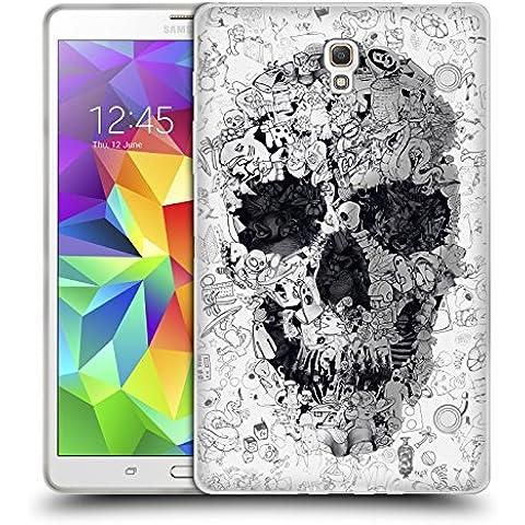 Ufficiale Ali Gulec Doodle Teschio Il Messaggio Cover Morbida In Gel Per Samsung Galaxy Tab S 8.4 - Doodle Ali