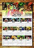 #7: Tamatina 2018 Calendar - Jai Sri Krishna Calendars - Wall Calendars 2018 - 2018 Calendars for Home - 2018 Calendars for Office - Hindu God Calendar - Krishna Calendar - HD Quality Wall Calender 2018 - Designer Calendars - Large Size Calendars …