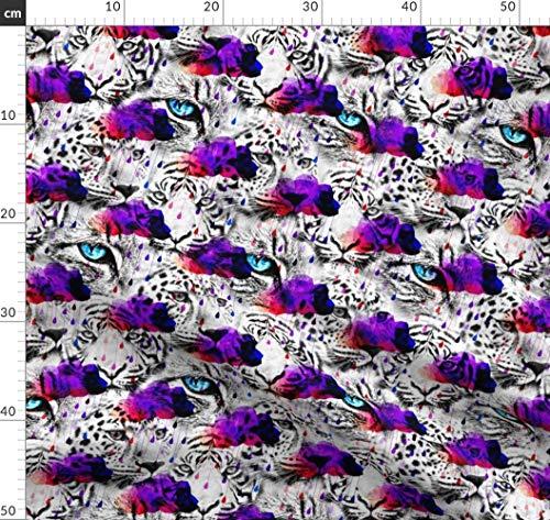 Modern, Saurer Regen, Katzen, Gepard, Stoffwindeln, Stoffbinde Stoffe - Individuell Bedruckt von Spoonflower - Design von Versodile Gedruckt auf Leinen Baumwoll Canvas