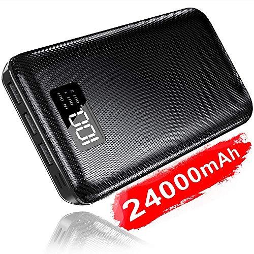 KEDRON Powerbank 24000mAh Externer Akku mit 2 Eingänge und 3 Ausgänge hohe Kapazität Tragbares Ladegerät Power Bank Handy für Smartphones Portable Mobile Charger Backup