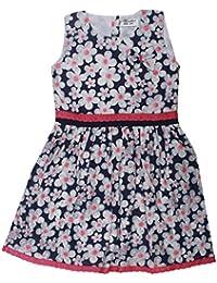 POPCORN Girls' A-Line Dress (Multi-Coloured, 4-5 Years)