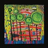 Kunstdruck/Poster: Friedensreich Hundertwasser Dingsdas wachsen in geliebten Gärten - Hochwertiger Druck, Bild, Kunstposter, 48x48 cm