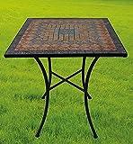Gartentisch Sardena, Mosaik Möbel im Mediterrane Stil, Tisch Eckig