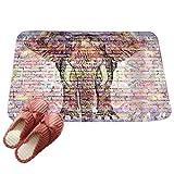 LvRaoo Fußmatte Willkommen für Haustür Innen und Aussen Fussmatten Rutschfest Schmutzfangmatte Fußabtreter Fussabstreifer - Mandala Elefant Drucke (# 3, 80*50cm)
