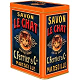 boite metal decorative 12x8x15 cm pub savon le chat marseille