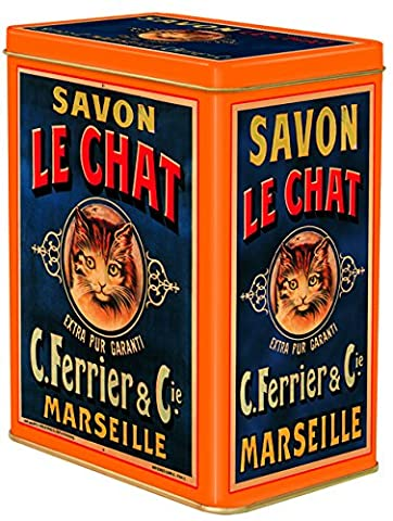 boite metal decorative 12x8x15 cm pub savon le chat marseille